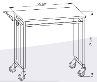 Encombrement table pont